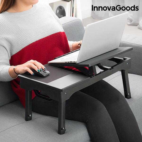 Składany Stolik pod Laptopa z LED InnovaGoods