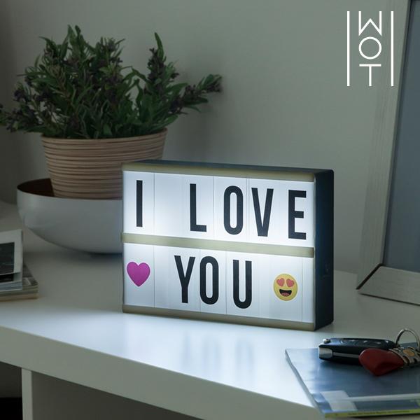 LED Tabule s Podsvícením Wagon Trend (21 x 15 cm)