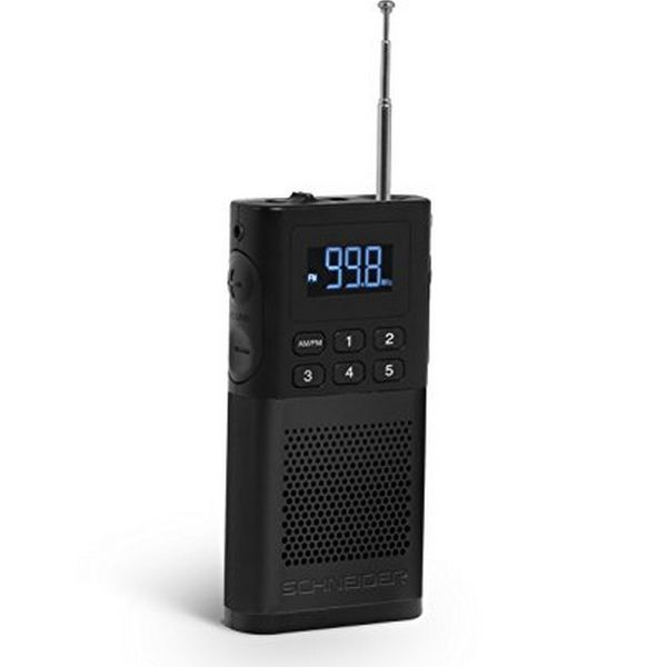 Tranzistorové rádio SCHNEIDER PICCOLO AM/FM LED Černý