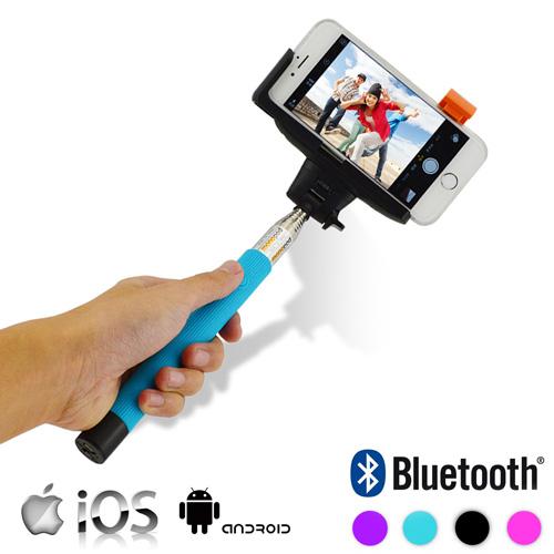 Bluetooth Teleskopický Držák na Mobilní Telefony - Modrý