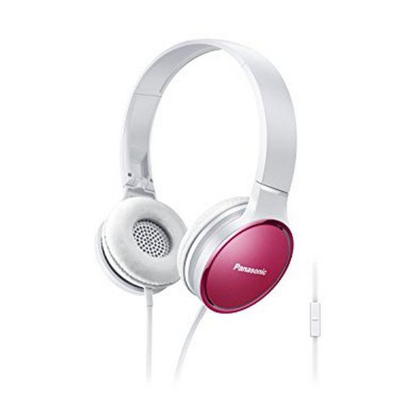 Sluchátka s mikrofonem Panasonic RP-HF300ME Růžový Čelenka