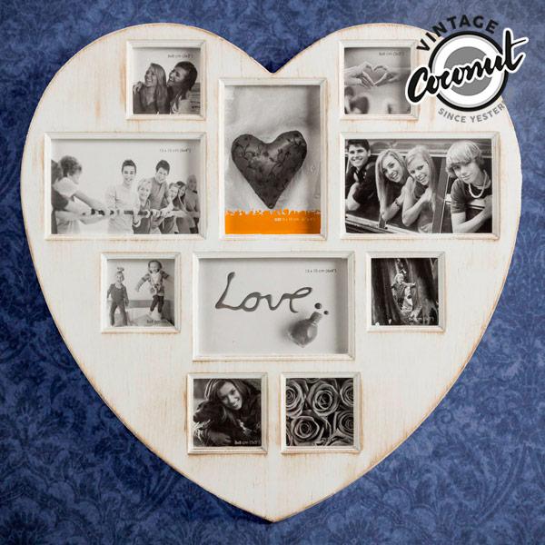 Klasyczna ramka do zdjęć Antique Heart (10 zdjęć)