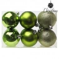 Vianočné gule Christmas Planet 8213 6 cm (12 uds) Zelená