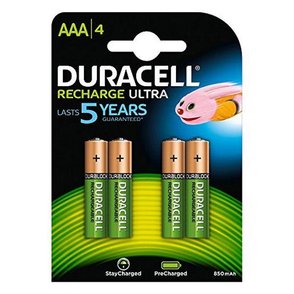 Dobíjecí Baterie DURACELL DURDLLR03P4B HR03 AAA 800 mAh (4 pcs)