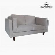 Canapea cu 2 Locuri Lemn de pin Imitație de piele Bej (165 x 92 x 80 cm) by Craftenwood