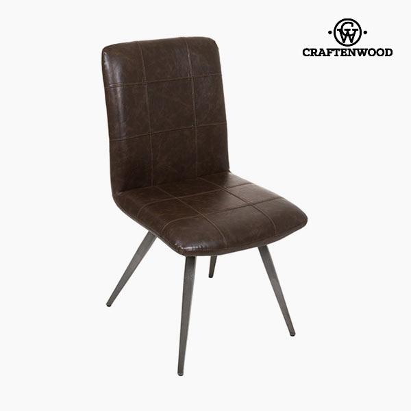 Krzesło do Jadalni Brązowa sztuczna skóra - Serious Line Kolekcja by Craftenwood