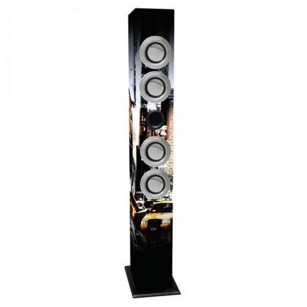 Zvukové zařízení s mikrofonem k hraní karaoke iWown 4 x 3W USB/SD/MMC