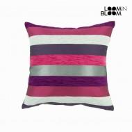 Poduszka Fioletowa (60 x 60 cm) - Colored Lines Kolekcja by Loom In Bloom