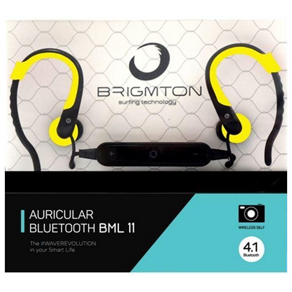 Słuchawki z Mikrofonem BRIGMTON BML-11-AM Bluetooth Żółty