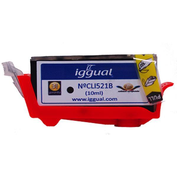 Recyklovaná Inkoustová Kazeta iggual Canon PSICLI521B Černý