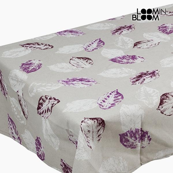 Ubrus Bavlna a polyester Šedý Fialový Bílý (200 x 140 x 0,05 cm) by Loom In Bloom