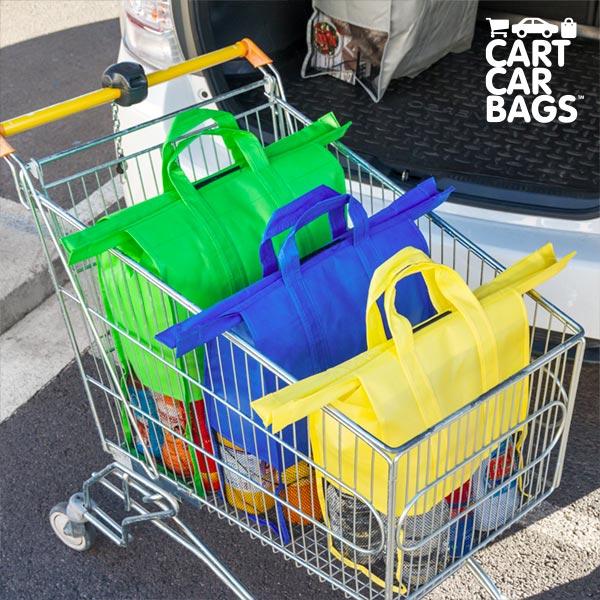 Torby Samochodowe do Koszyka Sklepowego Cart Car Bags (4 sztuki)