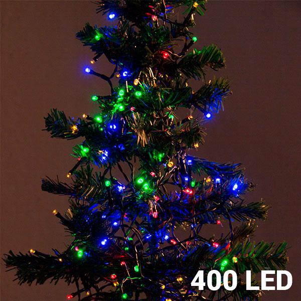 Wielokolorowe Lampki Świąteczne (400 LED)