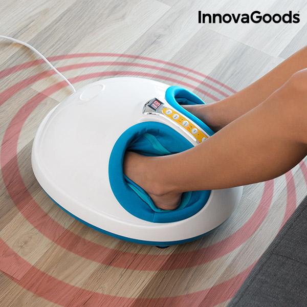 Masážní Přístroj na Nohy s Vyhříváním a Tlakovou Terapií InnovaGoods 45W Modrobílý