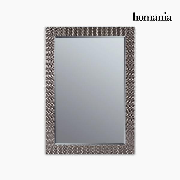 Lustro Żywica syntetyczna Szkło fazowane Srebro (76 x 2,5 x 106 cm) by Homania