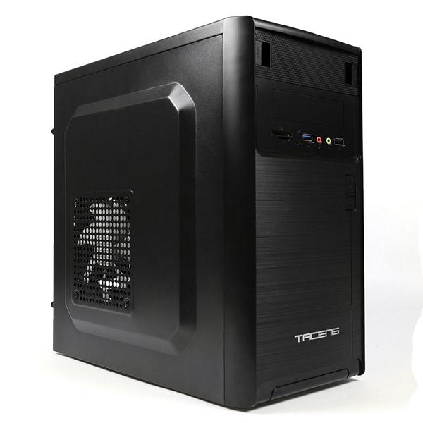 Počítačová skříň ATX v provedení midi-tower Tacens 2NOVUM USB 3.0 HD SD Černý
