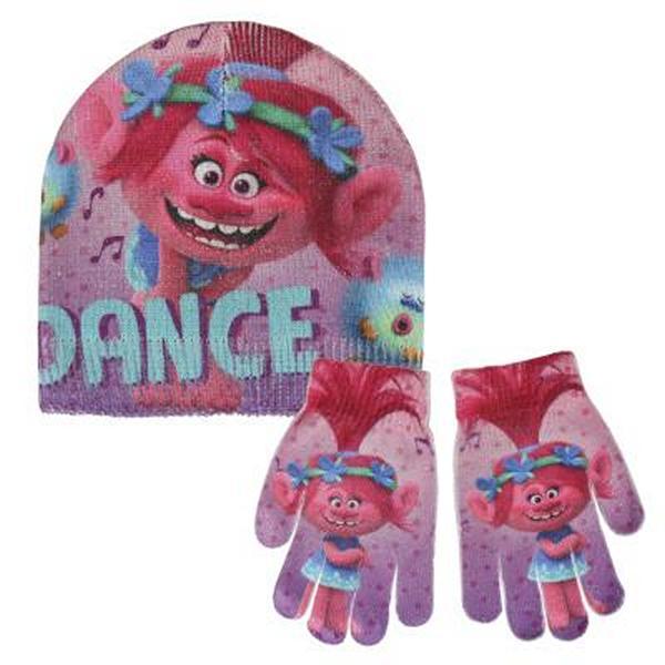 Čepice a rukavice Trolls 249