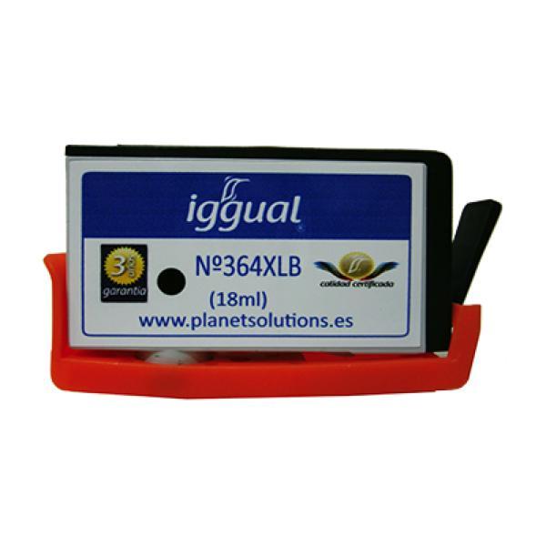 Recyklovaná Inkoustová Kazeta iggual HP PSICN684EE Černý