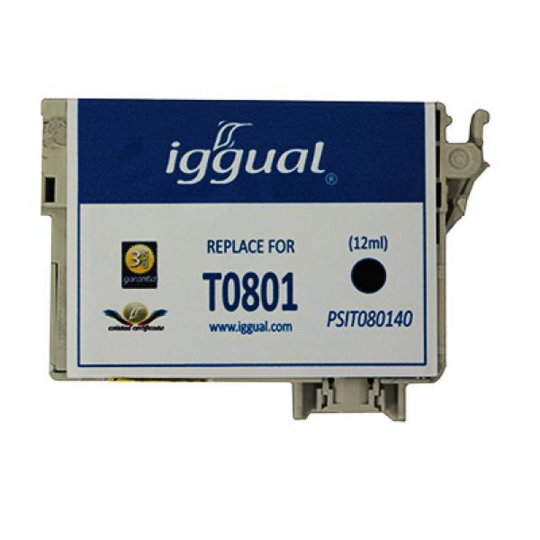 Recyklovaná Inkoustová Kazeta iggual Epson PSIT080140 Černý