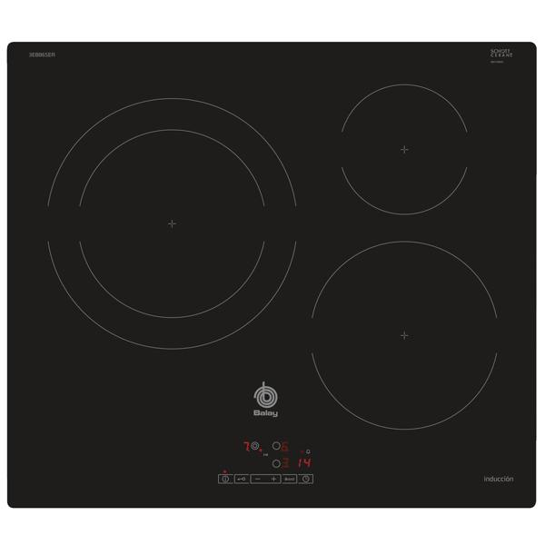 Indukční Plotýnka Balay 3EB865ER 60 cm Černý (3 místo pro vaření)
