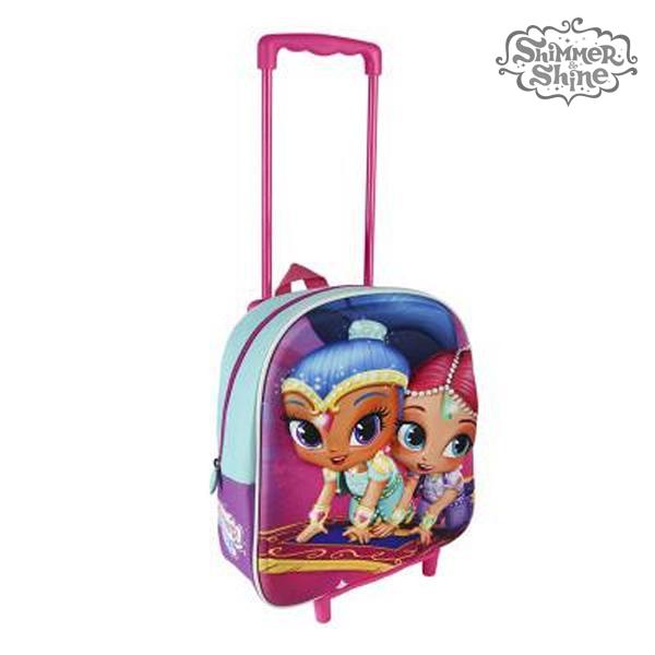 Plecak szkolny 3D z kółkami Shimmer and Shine 913