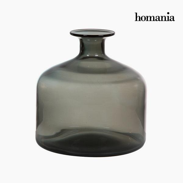 Wazon Szkło Szary (23,5 x 23,5 x 24 cm) by Homania