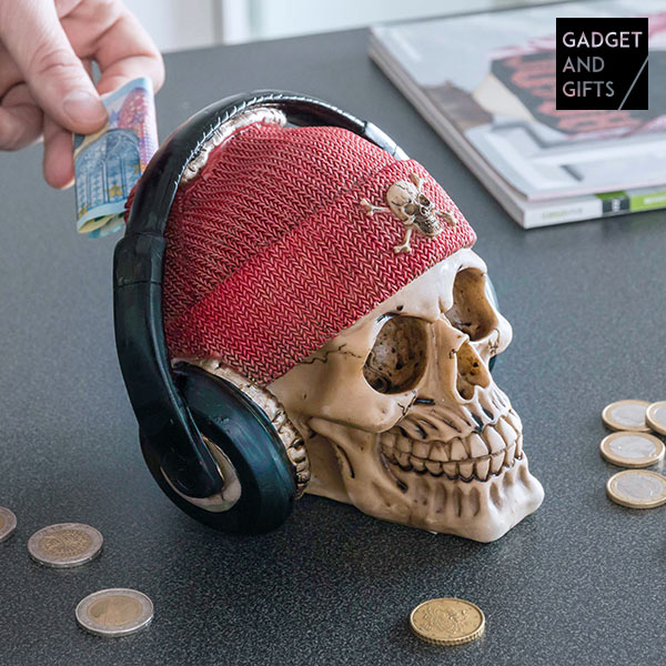 Skarbonka Czaszka Pirata ze Słuchawkami Gadget and Gifts