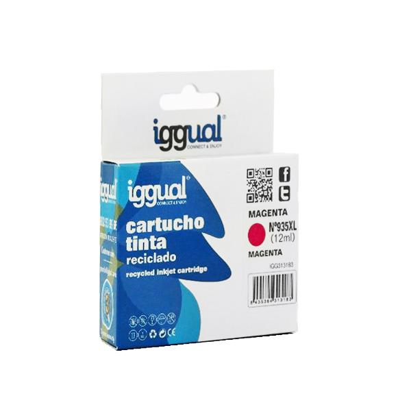 Recyklovaná Inkoustová Kazeta iggual HP IGG313183 Purpurová