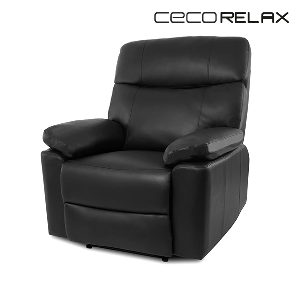 Czarny Relaksacyjny Fotel Masujący Cecorelax 6115