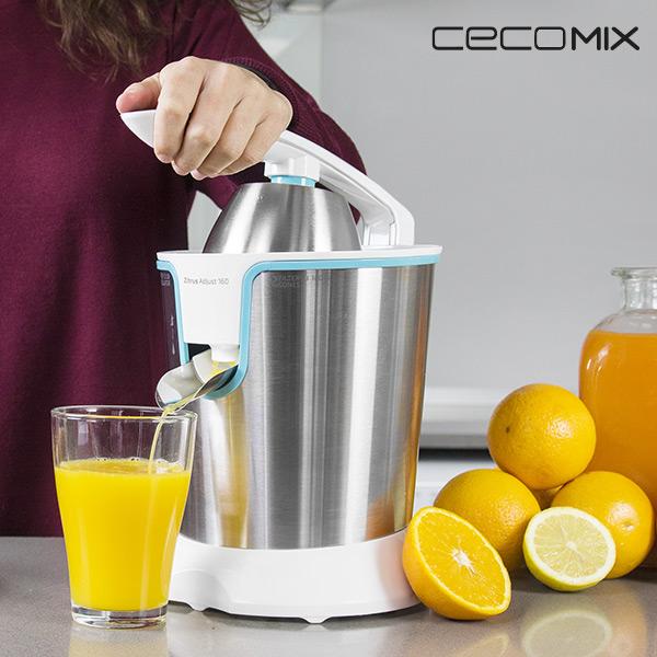 Elektrický Pákový Odšťavňovač Citrusů Cecomix Adjust White 4076 160W Nerez