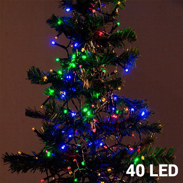 Barevné Vánoční Osvětlení (40 LED)