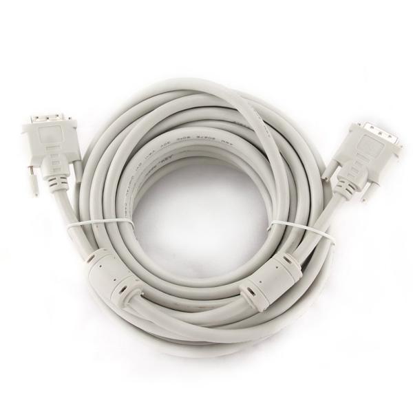 Kabel Video Digital DVI-D iggual IGG312650 Dual Link 10 m Biały