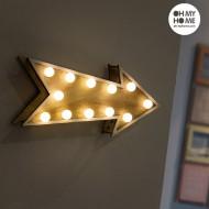 Dekoracyjna Strzała z Drewna Oh My Home (12 LED)