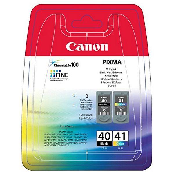 Originální inkoustová kazeta (balení po 2) Canon PG-40/CL41 Tříbarevná Černý