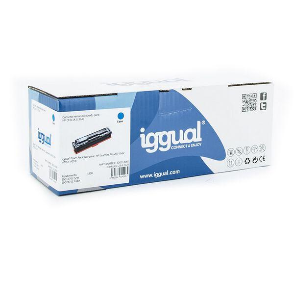 Toner z Recyklingu iggual IGG314265 HP 131X CF212X Cyan