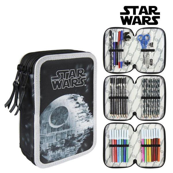 Piórnik potrójny Star Wars 58515 Czarny