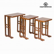 Set de 3 mese cuib maro - Serious Line Colectare by Craftenwood