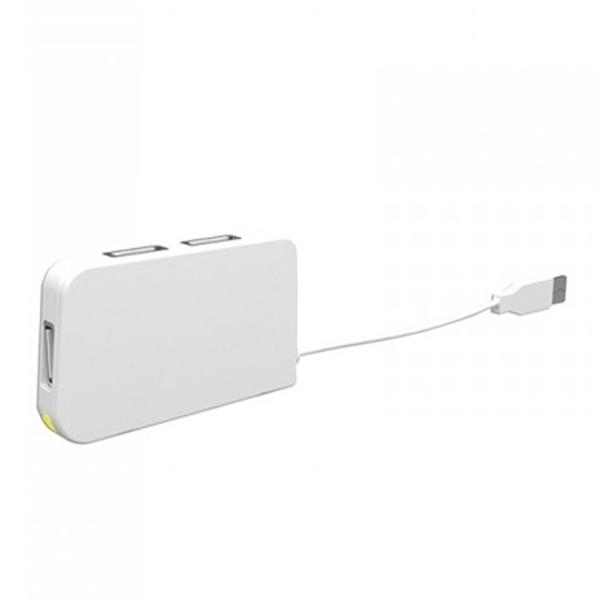 4 portowy HUB USB approx! APPHT4W USB 2.0 Biały