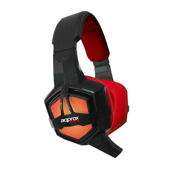 Słuchawki z Mikrofonem Gaming approx! APPGH10 Windows XP / Vista / 7 / 8 PS4 Czarny Czerwony