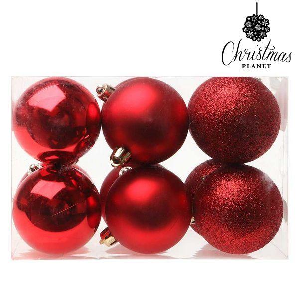 Vánoční koule Christmas Planet 5412 6 cm (12 uds) Plastické Červený