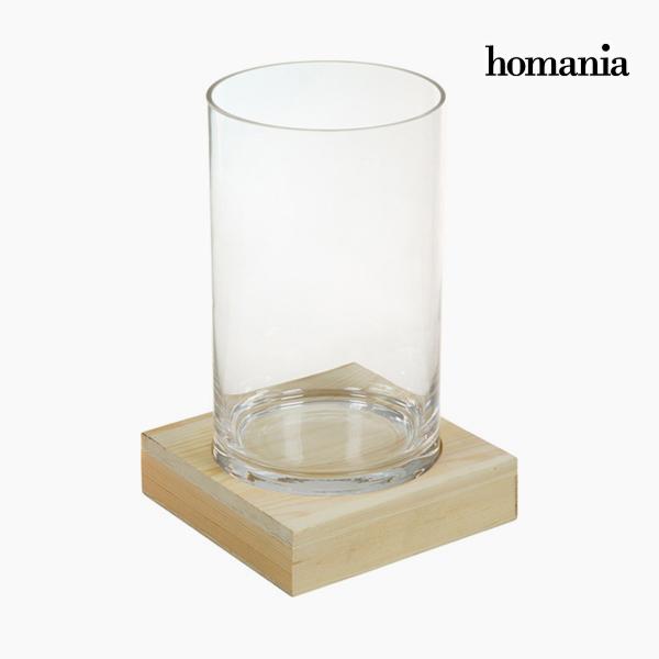 Wazon Szkło Drewno - Pure Crystal Deco Kolekcja by Homania