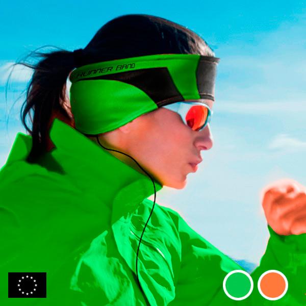 Sportovní Čelenka GoFit se Sluchátky - Zelený