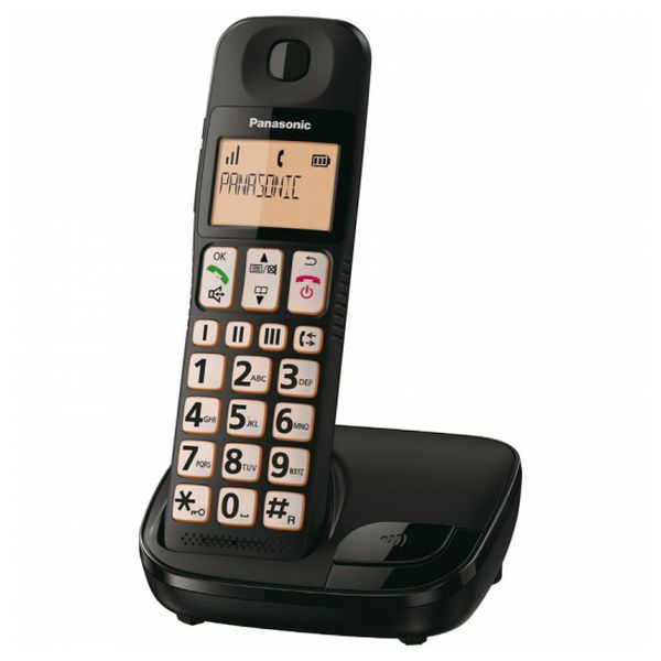Telefon Bezprzewodowy Panasonic KX-TGE310SPB Czarny