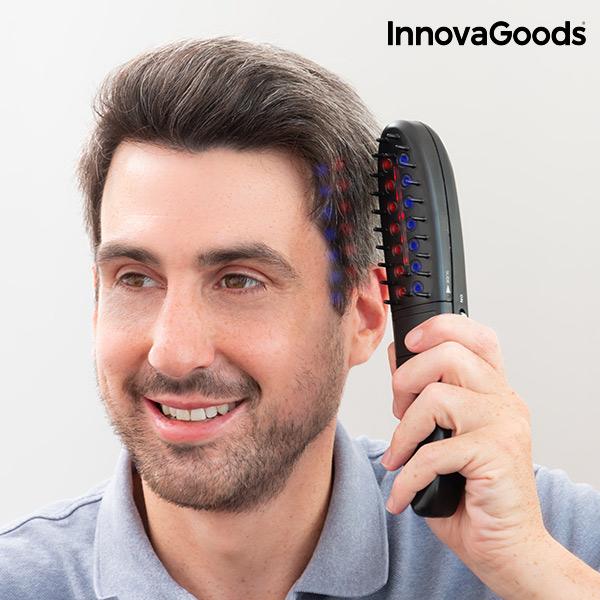 Set elektrického kartáče proti vypadávání vlasů s doplňky InnovaGoods (12 částí)