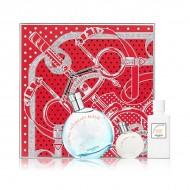 Souprava sdámským parfémem Eau Des Merveilles Bleue Hermès (3 pcs)