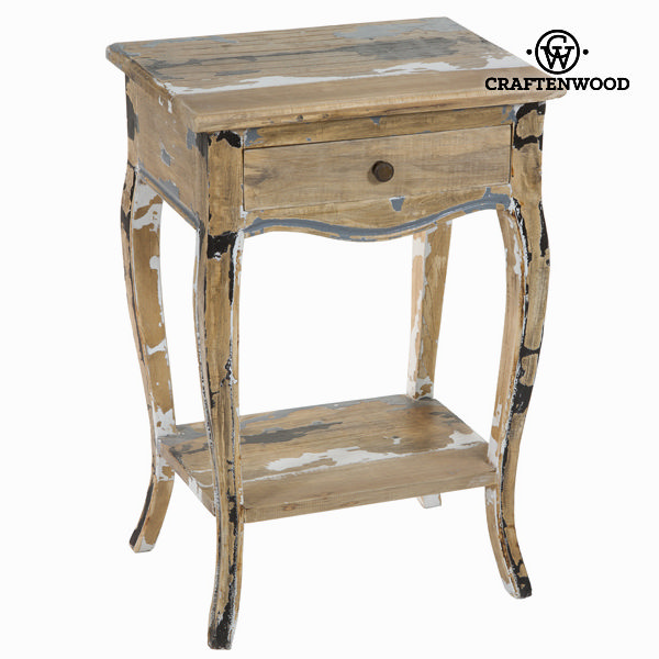 Stolek s 1 zásuvkou ze škrábaného dřeva - Poetic Kolekce by Craftenwood
