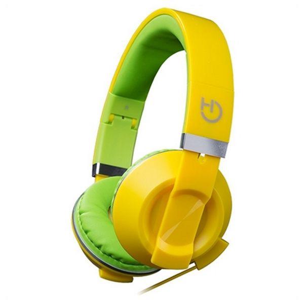 Sluchátka s mikrofonem Hiditec COOL KIDS WHP010006 Žlutý