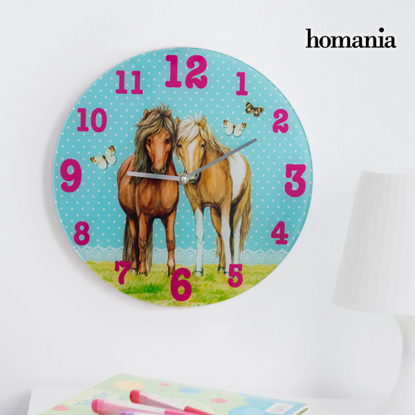 Zegar Ścienny Horses and Butterflies Homania
