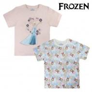 Koszulka z krótkim rękawem dla dzieci Frozen 6374 Błękitne niebo (rozmiar 2 lat)