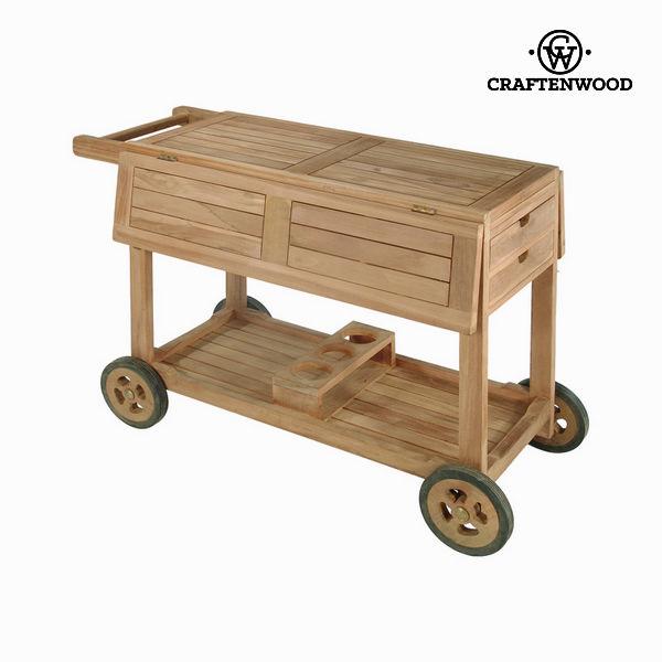 Týkový servírovací stolek by Craftenwood